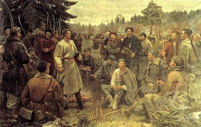 Кастусь_Каліноўскі_сярод_паўстанцаў_1863_года_(1955)