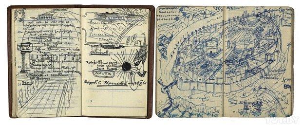 Малюнкі на старонках запісных кніжак, 1952−1963 гады.