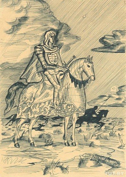 Малюнак, 1948 год. На адвароце Уладзімірам Караткевічам пазначана: «Маляваў, калі было год 18».