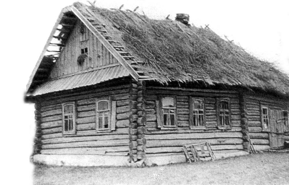 Хата ў Малой Багацькаўцы, дзе з 1924 г. жылі бацькі братоў Гарэцкіх