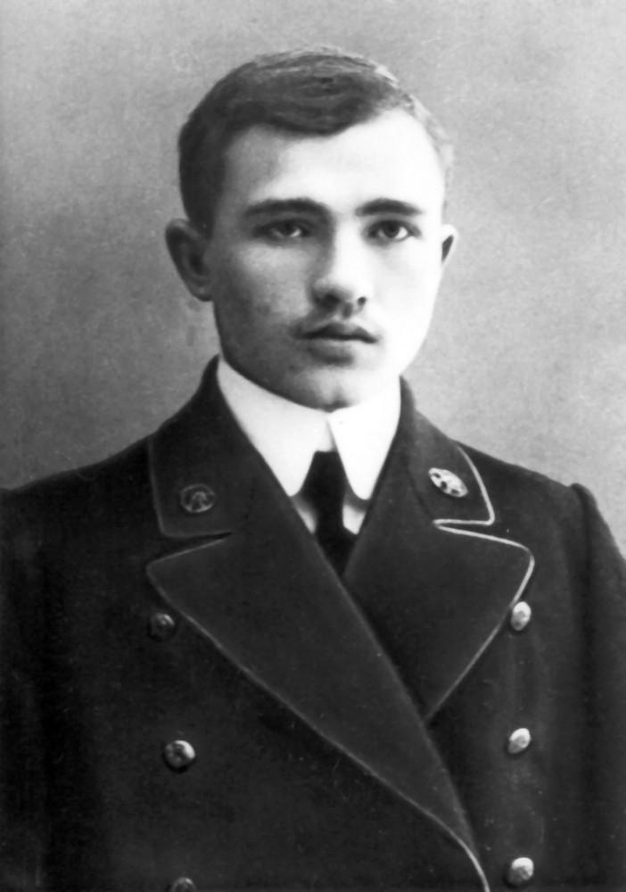 Максім Гарэцкі – студэнт каморніцка- агранамічнага вучылішча ў Горках. 1913 г.