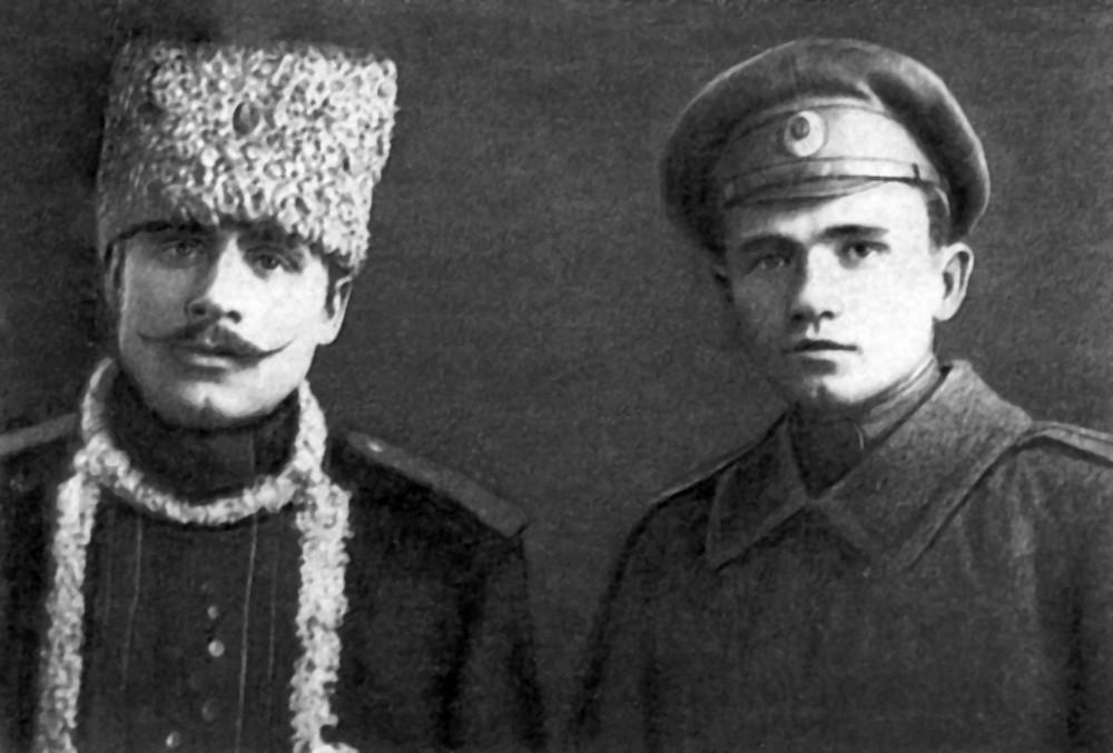 Іван і Максім Гарэцкія – вайскоўцы. 1916 г.