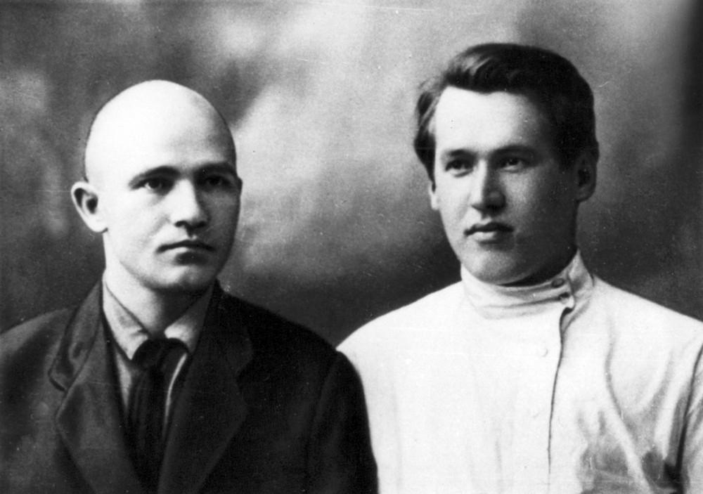 Максім Гарэцкі і Уладзімір Дубоўка. Масква, лета 1928 г.