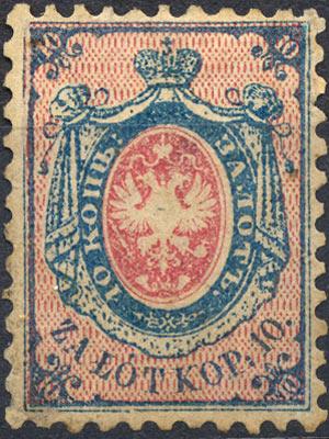 Першая паштовая марка Польшчы